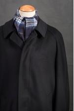 Donkerblauwe Salko raglan loden jas