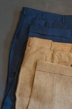 linnen broeken € 149,-  ook als pak ( jasje € 398,-)